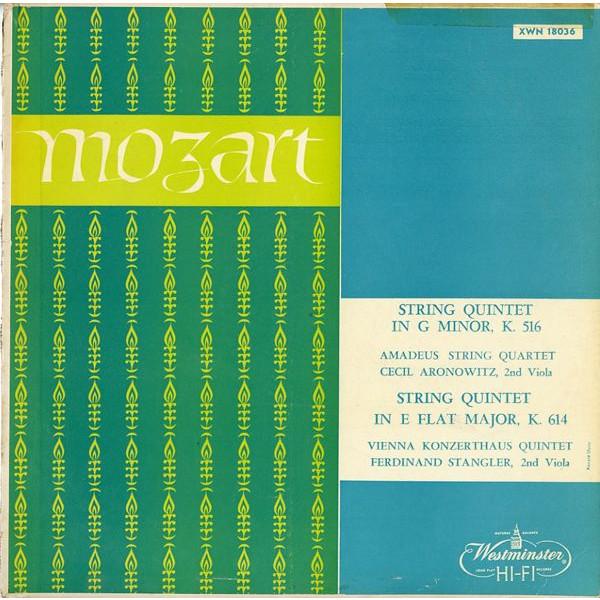 US WESTMINSTER XWN18036 アマデウスSQ & ウィーン・コンツェルトハウスSQ モーツァルト・弦楽五重奏曲